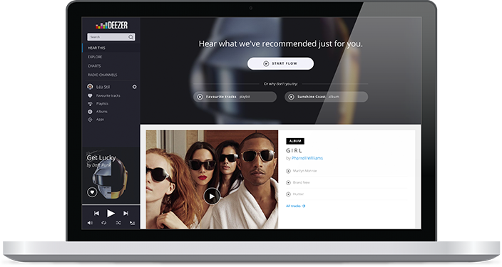 Deezer on Mac