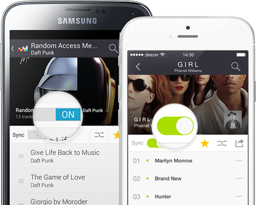 Deezer on different devices